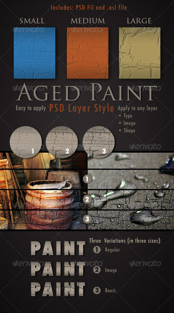 Aged Paint Photoshop Layer Style - Text Effects Styles