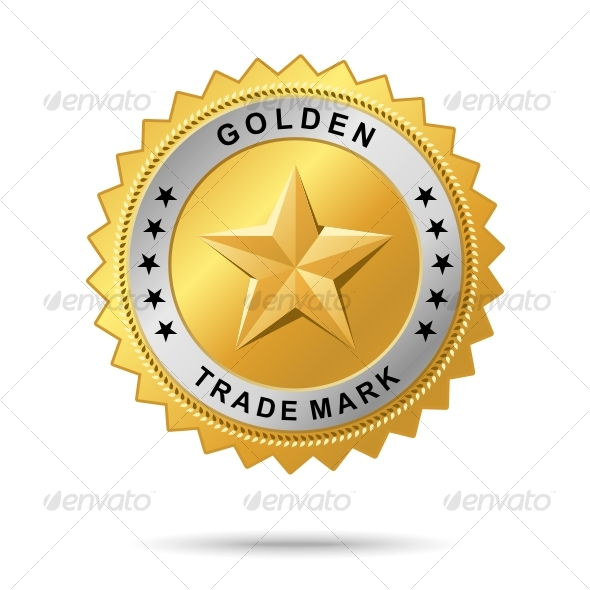 Golden trade mark label GraphicRiver - Vectors -  Decorative  Decorative Symbols 51161