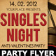 Singles Valentines Party Flyer Template - GraphicRiver Item for Sale