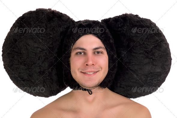 funny guy with big ears - Stock Photo - Images