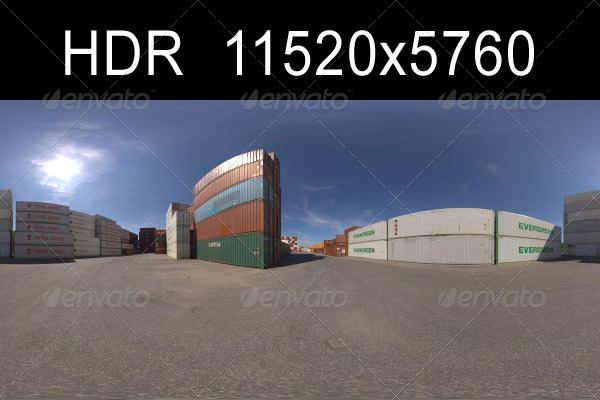 Container HDR Environment - 3DOcean Item for Sale