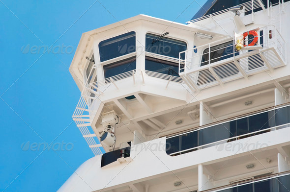 Close up of a Cruise Ship. - Stock Photo - Images