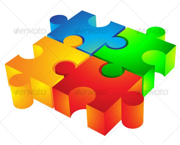 Vectors - 3D Jigsaw puzzle | GraphicRiver