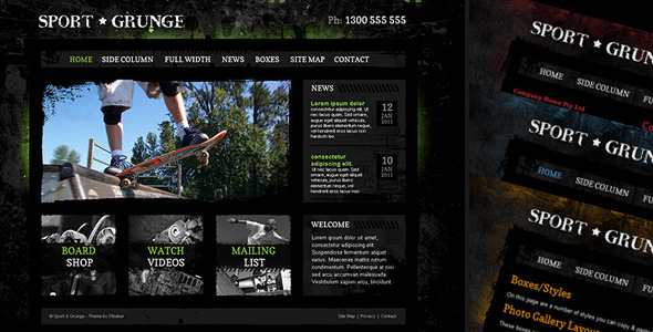 Sport and Grunge - HTML / PSD - Creative Site Templates