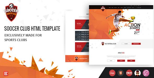 Soccer Club | Sports Club Html Template by 0effortthemes | ThemeForest
