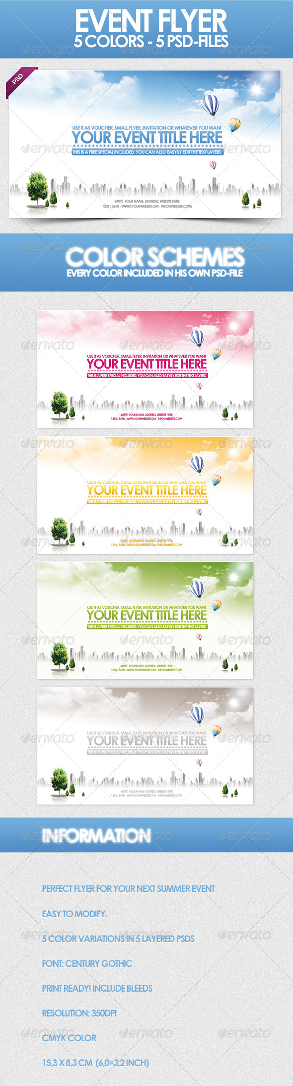Sky - Flyer Template - Clubs & Parties Events