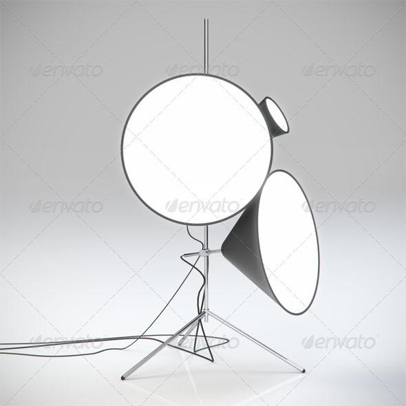 3DOcean Cone Lamp 155078