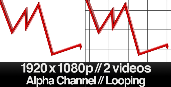 3D Falling Trend Line Loop Alpha VideoHive Motion Graphic  Interface Effects  Corporate 155269