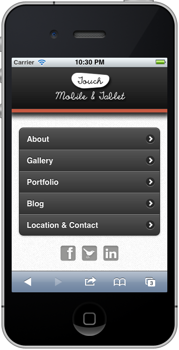 Touch Mobile & Tablet HTML5 Template