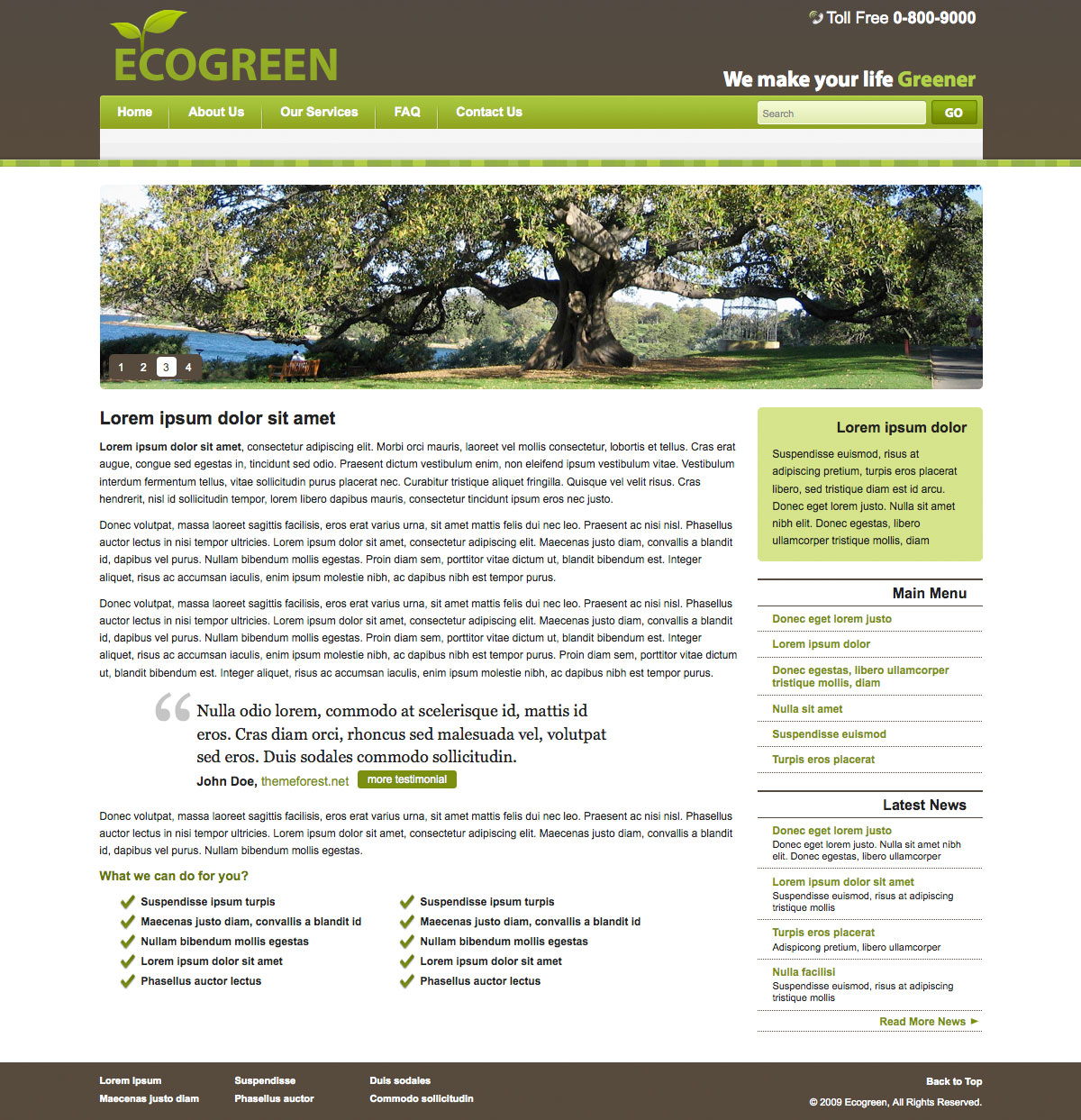 Down to Earth Template for Green Company - Down to Earth Template for Green Company - Homepage