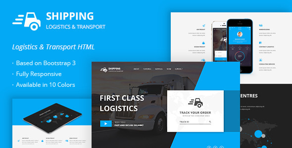 Shipping Logistics Transport HTML Template by themepassion – Shipping Template