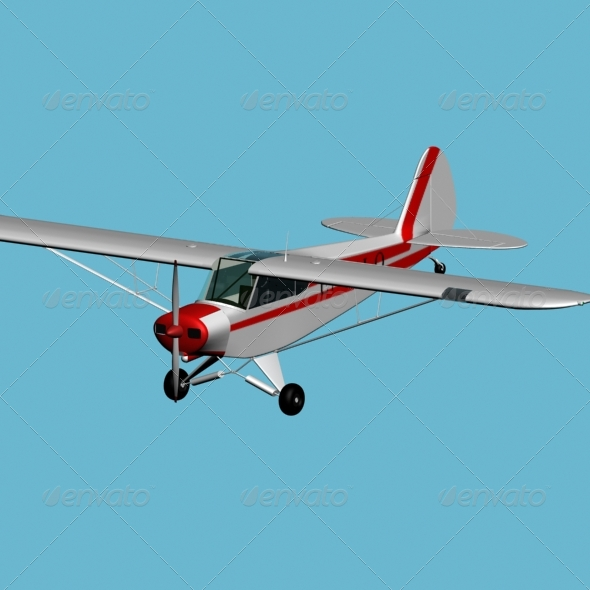 3DOcean Piper PA 18 Super Cub 155618