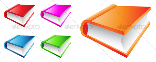 GraphicRiver colorful books 51688