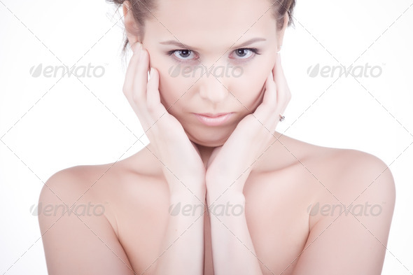 Beautiful health woman. - Stock Photo - Images