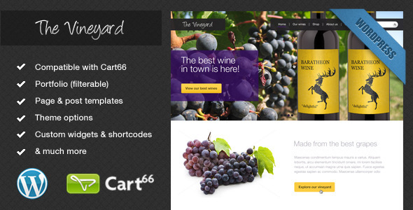 ThemeForest The Vineyard A WordPress eCommerce Theme 1275727