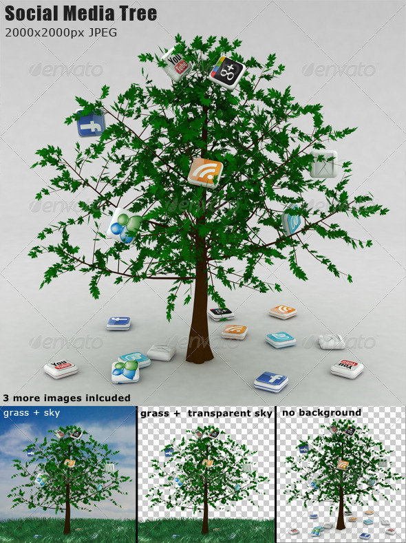 GraphicRiver Social Media Tree 1299780