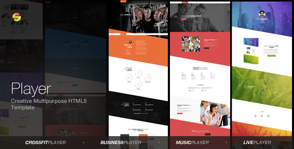 Player creative multipurpose html5 template by suelo for Html5 video player template