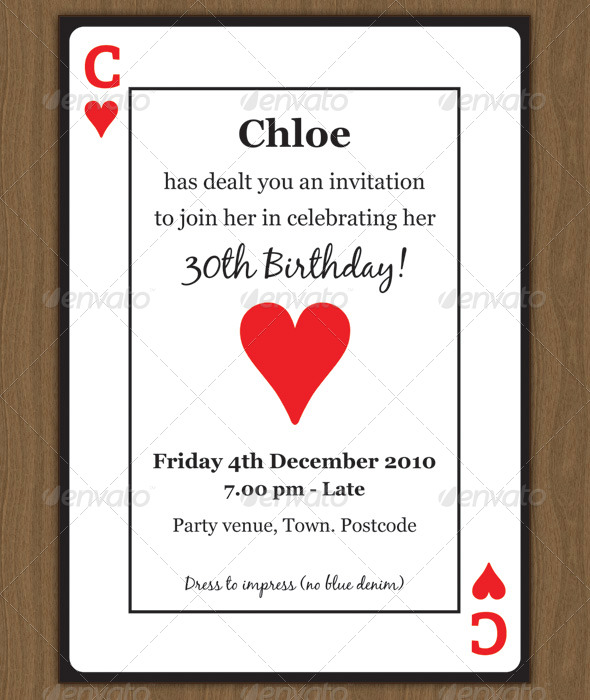 GraphicRiver Playing Card Invitation 155682