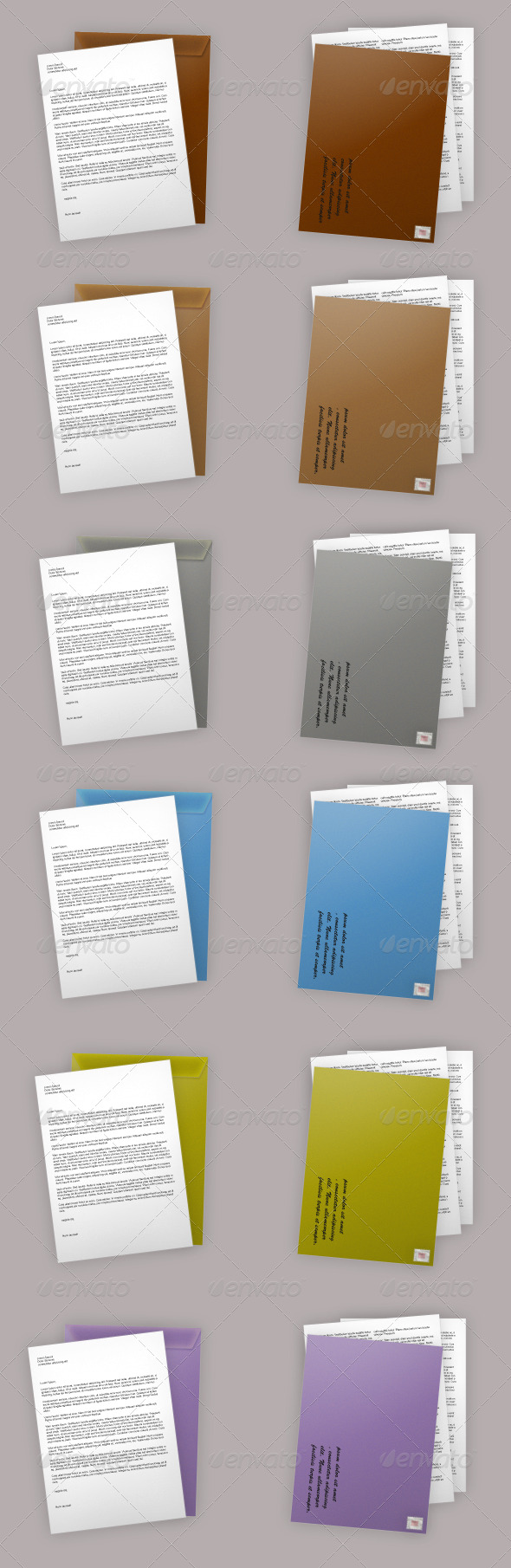 Colourful Envelope & Document icon - Miscellaneous Graphics