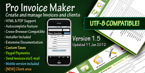 Pro Invoice Maker - CodeCanyon Item for Sale