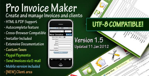 CodeCanyon Pro Invoice Maker 235733
