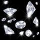 Falling Diamonds (4 Different overlays) - VideoHive Item for Sale
