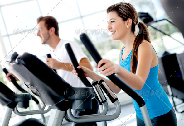 People at the gym - Stock Photo - Images