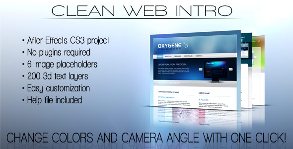 After Effects Project - VideoHive Clean Web Intro 156571