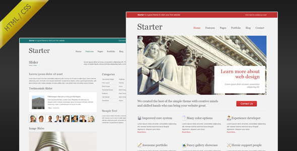 Starter - Simple and Minimalist HTML Template