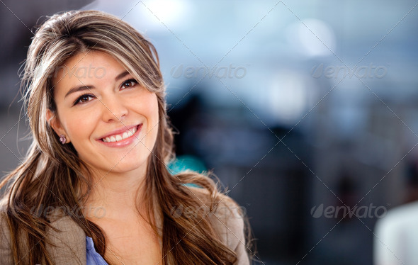 Beautiful young woman - Stock Photo - Images