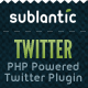 PHP Twitter Plugin - CodeCanyon Item for Sale