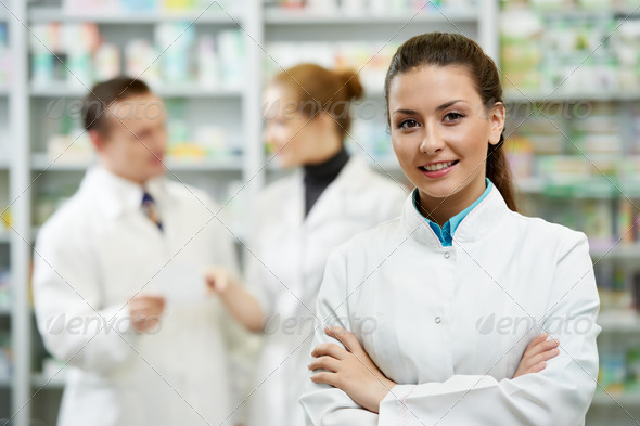PhotoDune Pharmacy chemist woman in drugstore 1304538