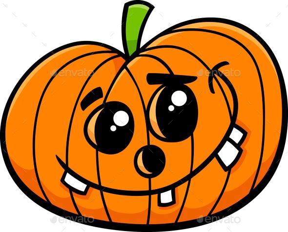 Jack halloween pumpkin cartoon stock photo by izakowski for Funny pumpkin drawings