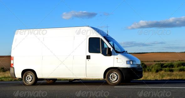 PhotoDune White delivery minitruck 1305575
