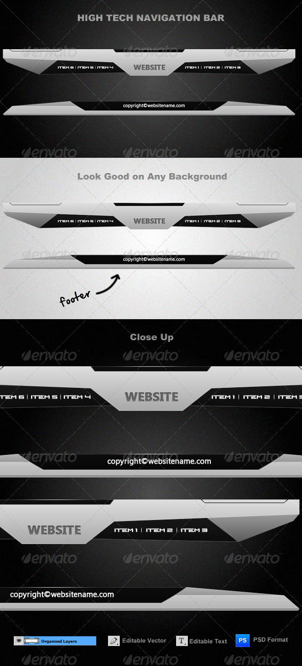 GraphicRiver High-Tech Navigation Bar 156907
