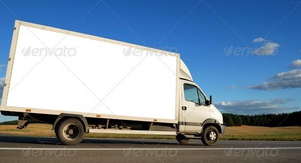 PhotoDune White minitruck 1305991