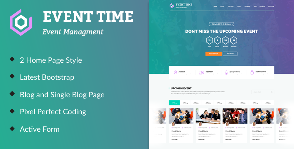 Event Time Conference Amp Event Html Template By