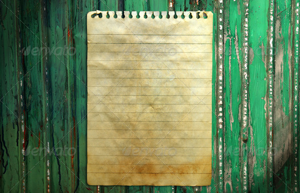 Old Notebook Paper Background Old Notebook Paper on Wall