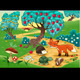 Animals in the wood. Funny cartoon and vector illu - GraphicRiver Item for Sale
