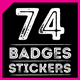 74 Vintage Badges and Stick-Graphicriver中文最全的素材分享平台