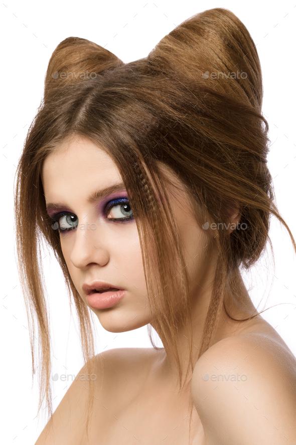 Как сделать уши кота из волос - Stels-benelli.RU