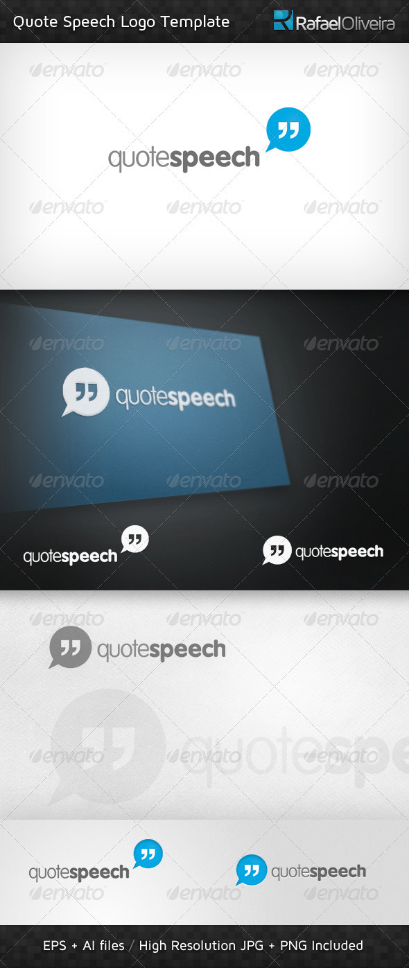 Quote Speech Logo Template - Letters Logo Templates