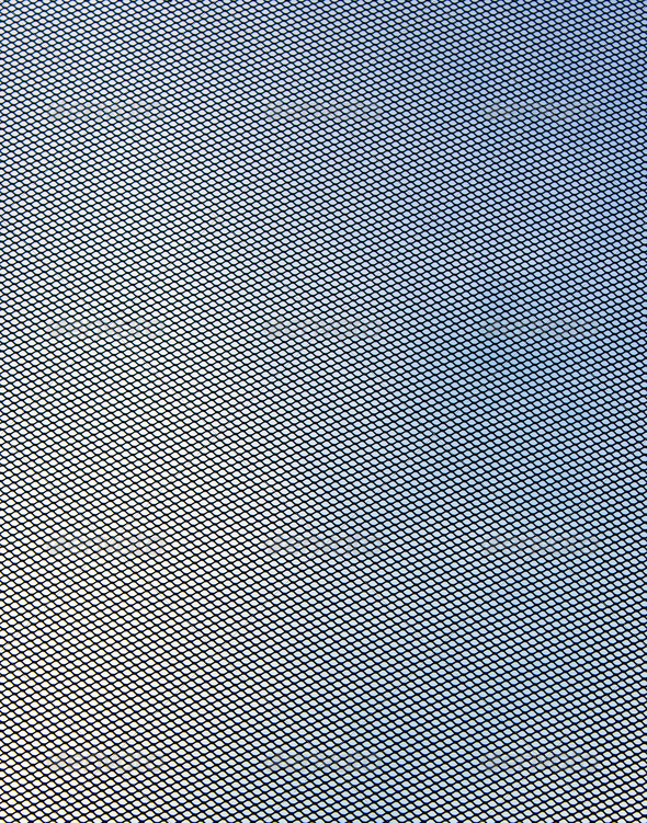 Satellite grid over cloud sky - Stock Photo - Images