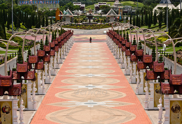 Royal Flora Park, Chiangmai, Thailand - Stock Photo - Images