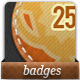 Stitched Fabric Badges - GraphicRiver Item for Sale