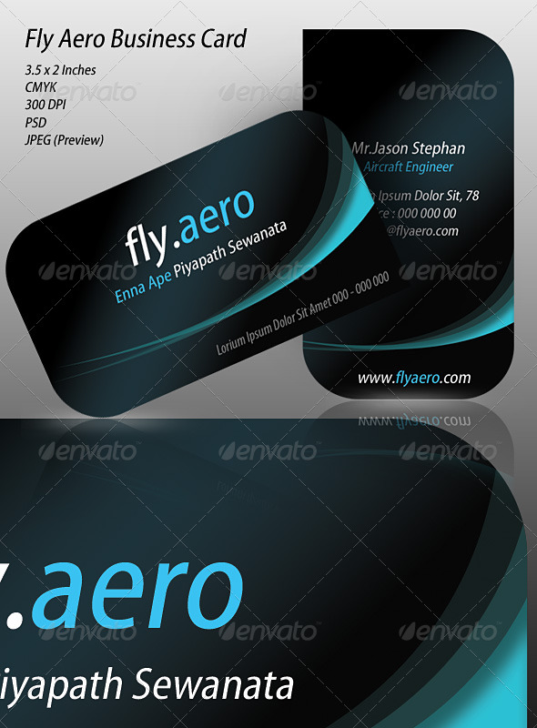Fly Aero Business Card - Creative Business Cards