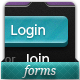 14 Unique Login Forms - GraphicRiver Item for Sale