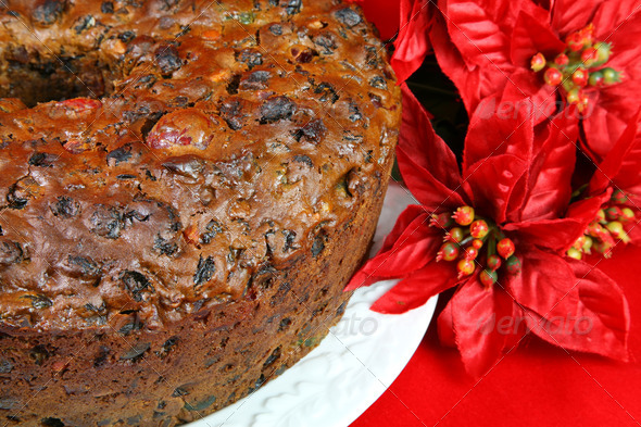 Christmas Fruitcake - Stock Photo - Images