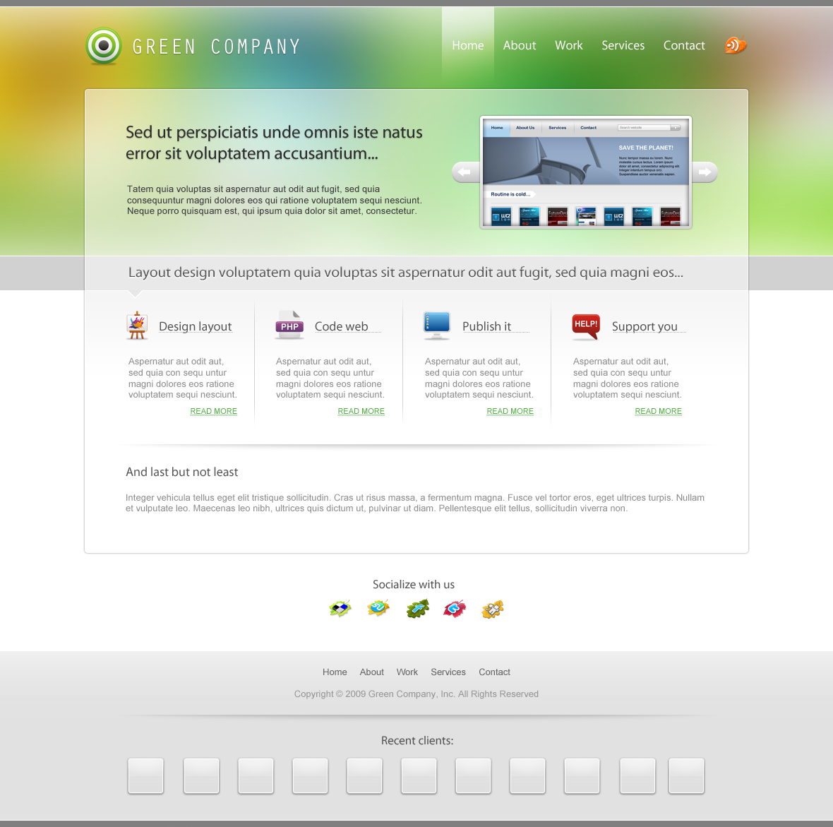 Green Company business website