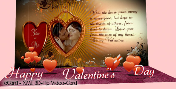 ActiveDen 3D-Flip Video e-Card XML 974954